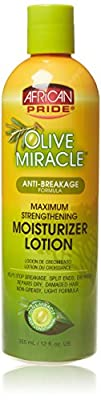 African Pride Olive Miracle Anti-Breakage Maximum Strengthening Moisturizer Lotion 355 ml/12 fl.oz by African Pride