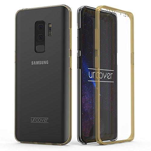 Urcover Kompatibel mit Samsung Galaxy S9 Plus Hülle I Original berühmt durch Galileo I Hard-Edition QI-fähig Rundum 360° Schutzhülle Champagner Gold