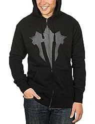 World of Warcraft chaqueta con capucha logotipo de la Horda de Hierro con bolsillos interior afelpado negro - XXL