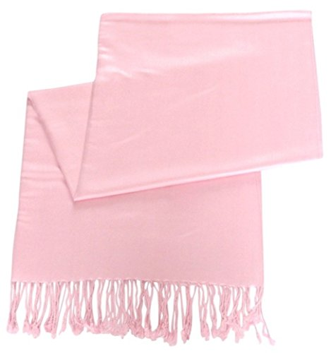 cj-apparel-baby-pink-solid-colour-design-shawl-pashmina-scarf-wrap-stole-seconds-new