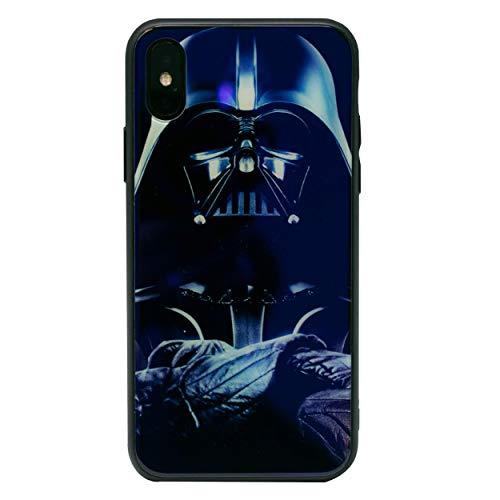 """I-CHOOSE LIMITED Star Wars Vaso Caso Extrafuerte Cubierta a Prueba de Golpes Duros para Apple iPhone 10/X (5.8"""") Pantalla Protector/Aire Templado Tecnología/Parachoques Reflectante/Darth Vader"""