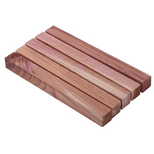 Holz Streifen 5-teilig Lufterfrischer Insekt Motte Geruch Anti Milben Kleiderschrank Deodorant Home Schimmel Beweis Schädlings Abwehr Block - Naturholz-kleiderschrank