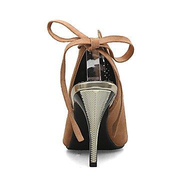 LvYuan sandali primavera-estate scarpe caduta del club gladiatore partito il comfort di nozze in pile&sera stiletto tacco casuale lace-up a Yellow