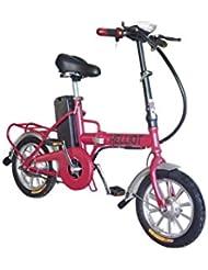 Helliot Bikes Daytona Vélo Électrique Pliable Mixte Adulte, Red, Standard