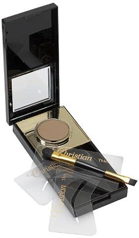 Christian Brow Kit de maquillage semi permanent pour les sourcils Marron foncé
