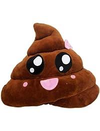 Covermason Divertido Emoji Poo Forma Cojines Emoticon Juguete Muñeca Almohada 20cm (A)