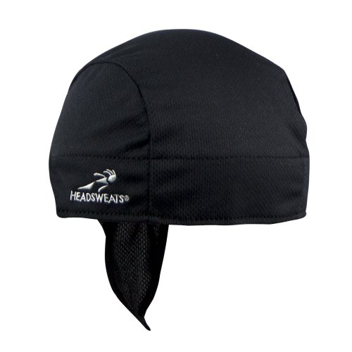 Headsweats Shorty Super Duty Bandana Piraten-Kopftuch Black, One Size - Feuchtigkeitstransport Cool Mesh Polyester
