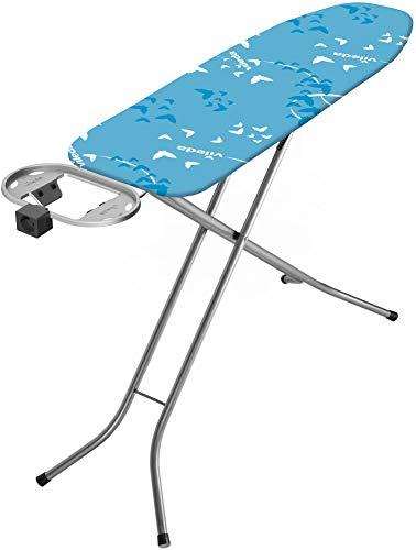 Vileda Smart Plus Bügelbrett, integrierter Elektroanschluss, dampfdurchlässiger Oberfläche, 114 x 34 cm, blau