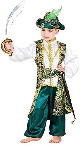 Für Disney Kostüm Princes Erwachsene - Carnevale Venizano CAV1106-S - Kinderkostüm Principe D'ORIENTE - Alter: 7-10 Jahre - Größe: S