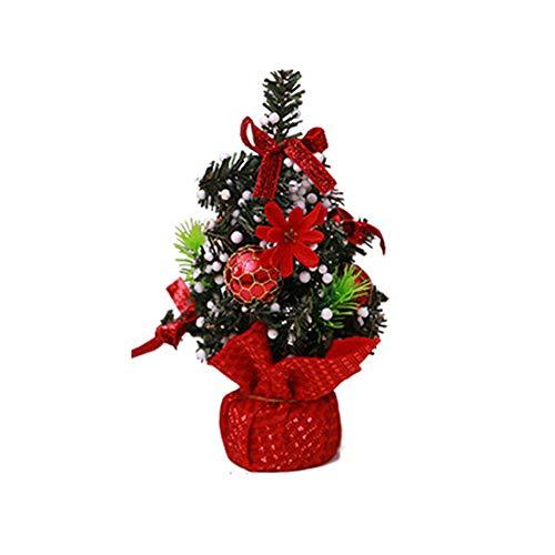 Wawer Frohe Weihnachten Weihnachts Baum Deko Schlafzimmer Schreibtisch Dekoration Spielzeug Puppe Geschenk Büro Home Kinder Mini Weihnachtsbaum Dekoration Ornamente (H) - Schlafzimmer Traditionellen Schreibtisch