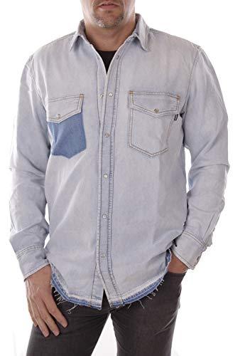 Diesel camica di jeans uomo (m, blu)
