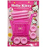 Hello Kitty Mini Plastic Children Shopping Hand Trolley Cart For Kids Developmental Pretend Role Play Toy Playset