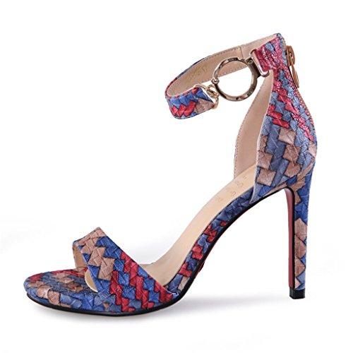 Hyun Times L'Europe et les États-Unis Fashion Fish Head High Heels Sandales tacites 10 cm High Heel