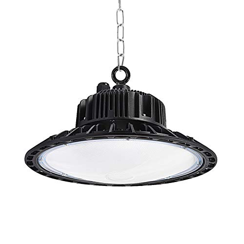 Natur 150W Werkstatt Led UFO Industrielampe, LED Hallenbeleuchtung kaltweiß 6000K, 15000LM Industriestrahler, Industrieleuchte, LED Strahler für Werkstätten und Fabrikhallen usw. (150W)