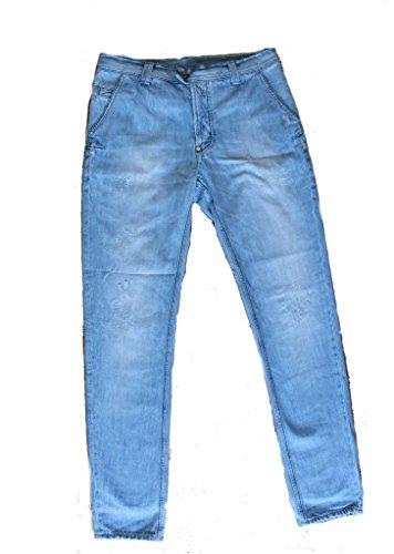 Dondup Jeans Step Lavaggio Chiaro Made In Italy (45, blu chiaro)
