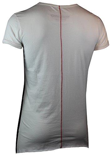 trueprodigy Casual Herren Marken T-Shirt mit Aufdruck, Oberteil cool und stylisch mit Rundhals (kurzarm & Slim Fit), Shirt für Männer bedruckt Farbe: Off White 1063139-8005 Offwhite