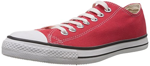 Converse Men's Red Canvas Sneakers - 8 UK (0104192D)