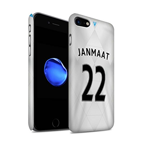 Officiel Newcastle United FC Coque / Clipser Matte Etui pour Apple iPhone 7 / Taylor Design / NUFC Maillot Extérieur 15/16 Collection Janmaat