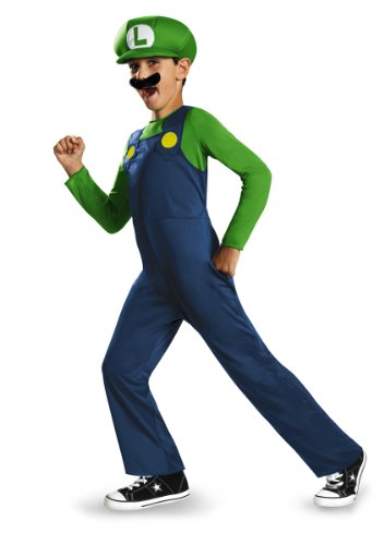 Mario Kid Kostüm Und Luigi - Super Mario Bros DISK73692G Kostüm, Jungen, Luigi, Groß