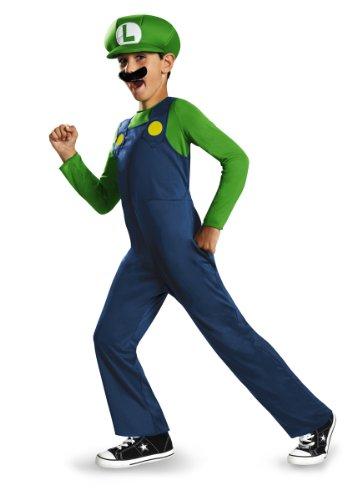 Disguise Nintendo Super Mario Brothers Luigi Klassisches Jungen Kostüm