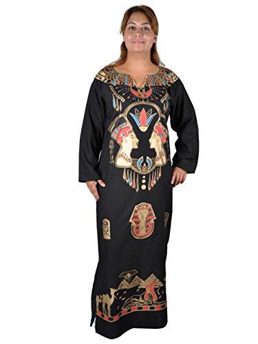 (Kleopatra Pharao Kostüm, Fasching Fastnacht Karneval Kleider aus dem Orient Ägypterin, schwarz (52-54 (2XL)))