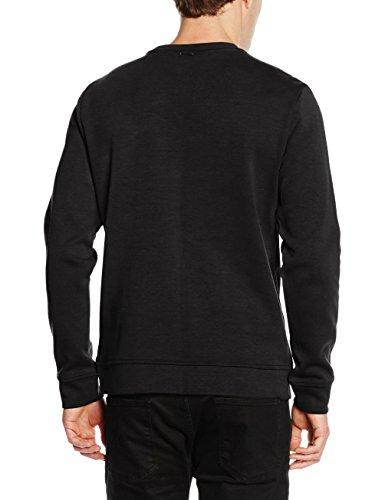 Antony Morato Herren Sweatshirt Felpa Chiusa Con Tasca E Zip Sul Petto schwarz (9000/nERO)
