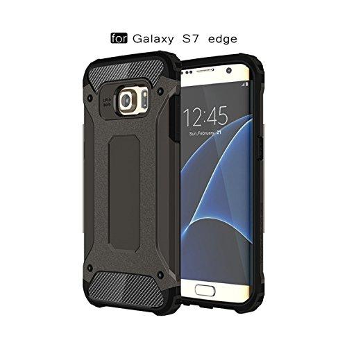 Pinlu custodia per samsung galaxy s7 edge alta qualità armatura rugged heavy duty cover doppio strato tpu + pc antiurto protettiva case con antiurto disegno bronzo