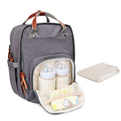 Baby Wickelrucksack Wickeltasche mit Wickelunterlage Multifunktional Oxford Große Kapazität Babyrucksack Kein Formaldehyd Reiserucksack für Unterwegs (Papa Stil)