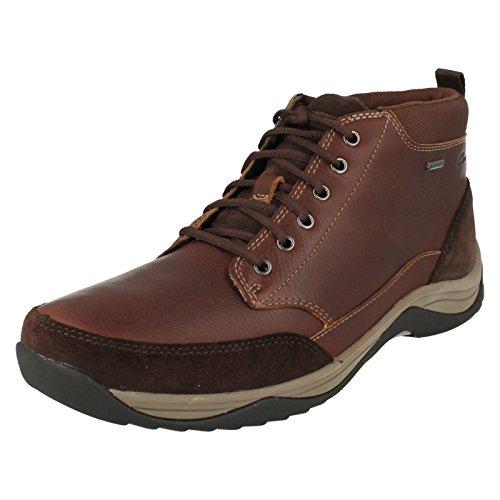 Clarks Herren Freizeit Baystone Top Gore-Tex® Leder Stiefel Größe 48 Gore-tex-chukka