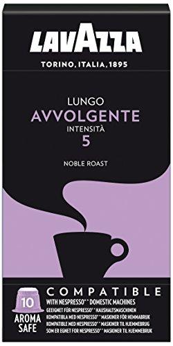 Lavazza Avvolgente Lungo, Cápsulas de Café, Compatible con las Cafeteras de Cápsulas Nespresso, 10 Cápsulas de Café