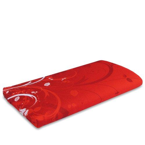 Stilbag Tasche 'MIKA' für Apple iPhone 5 - Design: Abstract Green Rote Blumen