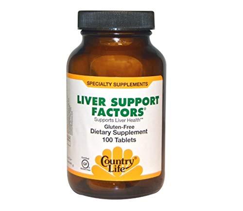 Leber 100 Tabletten (Country Life, Gluten frei, Leber Unterstützung Faktoren, 100 Tabletten)