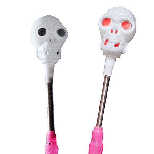 Zantec LED leuchten Kürbis / Schädel Glühen Stick 3 Modi Blinkende Zauberstab Halloween Kinder Spielzeug Party (Vogelscheuche Kostüm Mit Kürbis Kopf)