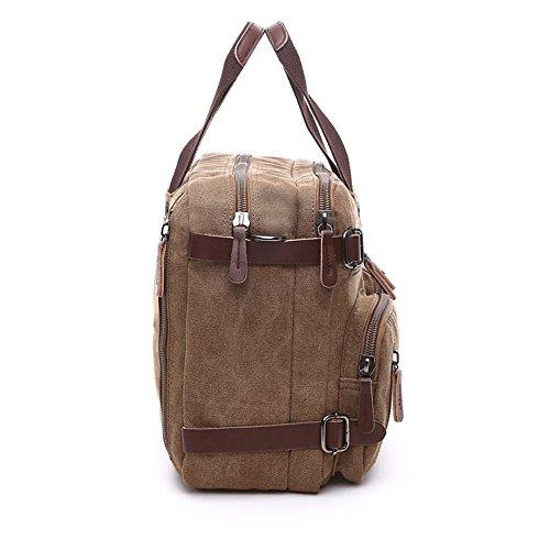 Gendi Leinwand Rucksack Outdoor Rucksack Rucksack Duffel Tasche für Damen und Herren Wandern Travel Gym Klettern Camping Sport coffee