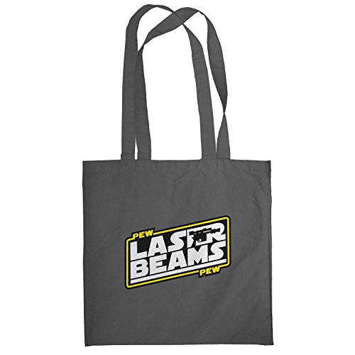 Texlab–Pew Pew Laser Beams–sacchetto di stoffa Grau
