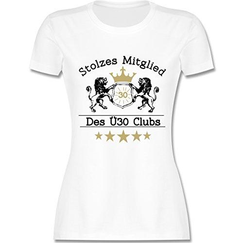 Geburtstag - 30. Geburtstag Stolzes Mitglied des Ü30 Clubs - M - Weiß - L191 - Damen T-Shirt Rundhals