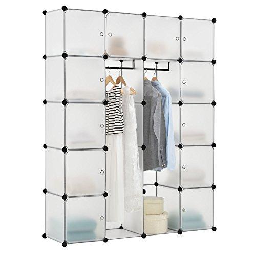DIY Regalsystem Garderobenschrank Kleiderschrank aus 20 variablen Boxen in weiss