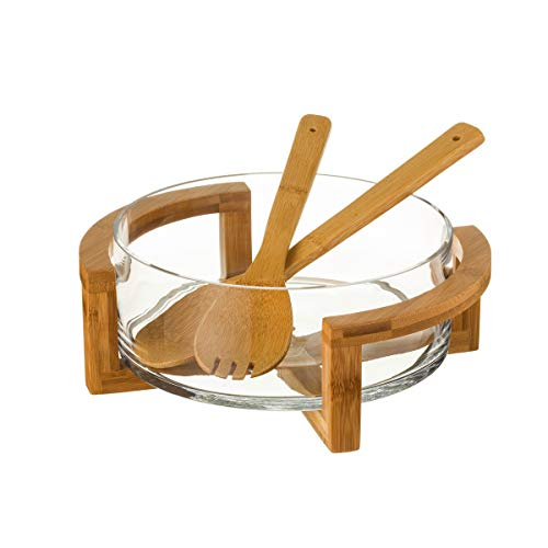 Ensaladera Fuente de Cristal Transparente Moderna para Cocina Sol Naciente - LOLAhome