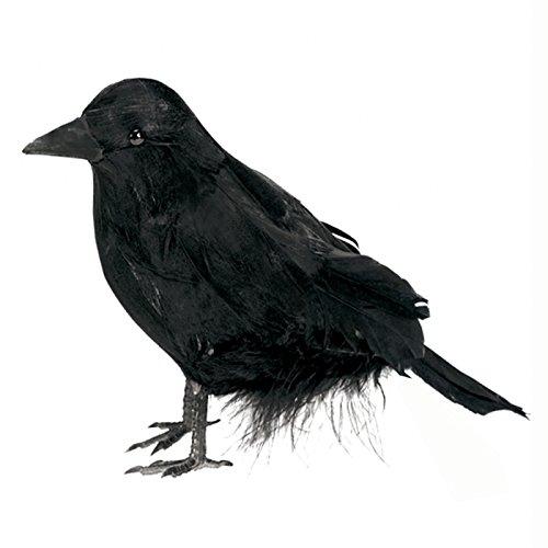 NEU Deko-Figur Rabe, 10,1 cm (Kostüme Vogel Halloween)