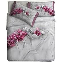 """Ipersan  Juego Nordico Set """"Fine Art""""  impresa fotografica   - Asian color gris/rosa 255x240cm"""