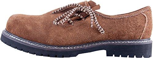 Almwerk Herren Trachtenschuh aus echtem Leder in verschiedenen Farben, Schuhgröße:EUR 45, Farbe:Hellbraun
