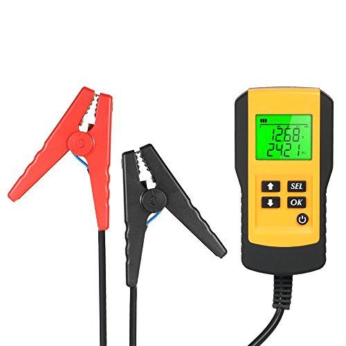 Tester per batteria per auto 12V, tester per analizzatore di batteria autoveicoli, analizzatore CCA 5-9995 Rileva direttamente batteria difettosa Controlla stato della batteria inondazione, gel, AGM