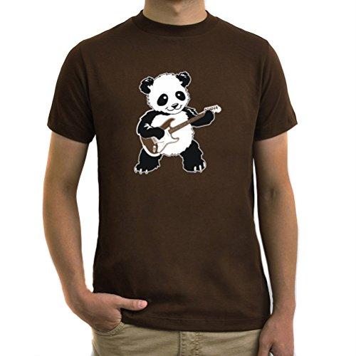 Maglietta Rockin' Panda Marrone