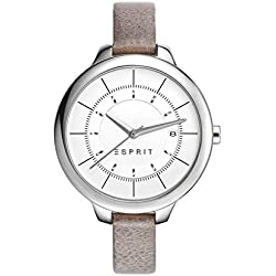 Esprit Lynn Silver Dial Analogue Leather Strap Womens Quartz Watch