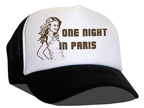 Raphia Art Mesh Casquette One Night in Paris/Black