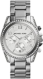 Michael Kors Dress Watch Analog Display Quartz For Women Mk5165, Silver Band
