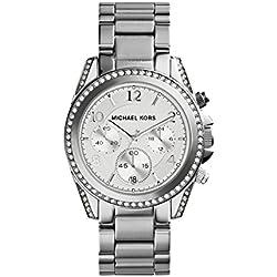 Michael Kors MK5165 - Reloj para mujer con correa de acero, color blanco / gris