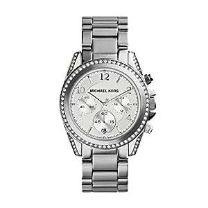 Michael Kors MK5165 Women's Stainless Steel Silver Dial Blair Quartz Chronograph Watch