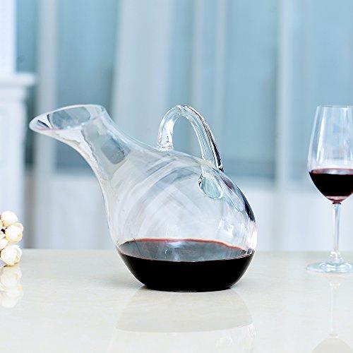 Zoom IMG-1 rrtizan vetro decanter per vino