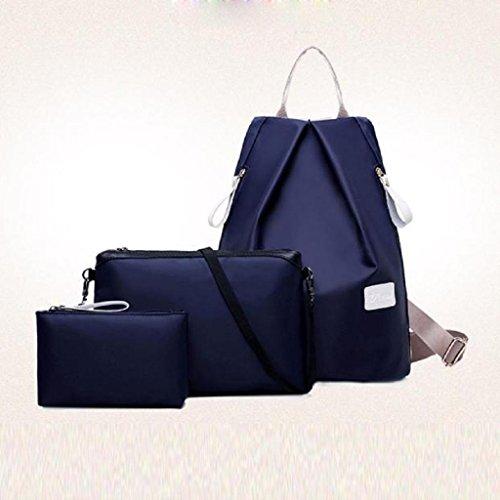 2017 Nuovo Borse donna,Kangrunmy 3PC Donne borsa di modo Borsa a tracolla zaino signore borsa Blu